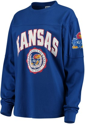 Women's Royal Kansas Jayhawks Edith Long Sleeve T-Shirt