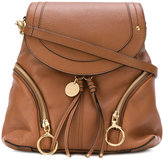See by Chloe hoop flap backpack - women - Leather - One Size