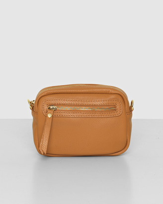 Bee Women's Brown Leather bags - The Bonney Tan Crossbody - Size One Size at The Iconic
