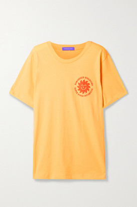 PARADISED Printed Cotton-jersey T-shirt - Yellow