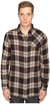 Matiere Bowen Japanese Gauze Plaid Button Down Shirt Men's Clothing