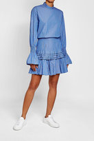 Maggie Marilyn Striped Cotton Mini Skirt with Ruffles