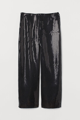 H&M Wide trousers with sequins