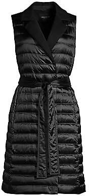 Lafayette 148 New York Women's Meade Satin Tech Long Vest