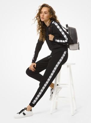 MICHAEL Michael Kors Logo Tape Mesh Track Jacket