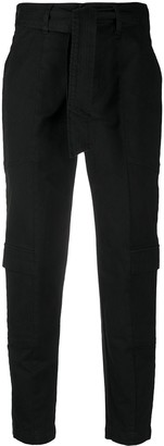 J Brand Athena high-waisted cropped trousers