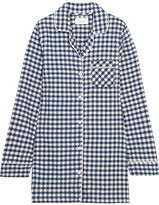 Three J NYC Audrey Checked Cotton-flannel Nightshirt - Midnight blue