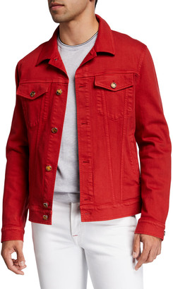 Kiton Men's Denim Trucker Jacket