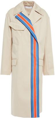Victoria Victoria Beckham Striped Cotton-twill Trench Coat