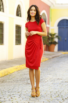 Shabby Apple Daniela Sheath Dress Red