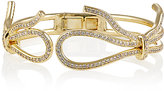 Fallon WOMEN'S FORGET ME KNOT HINGED CUFF-GOLD