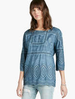 Lucky Brand Shiffly Peasant Top