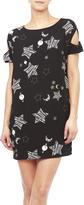 Do & Be Universe Print Shift Dress