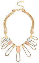 Kenneth Cole New York Gold-Tone Pave Multi-Stone Geometric Statement Necklace