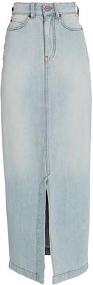 Victoria Victoria Beckham Split Denim Midi Skirt