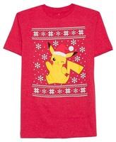 Pikachu Pokemon® Men's Big & Tall Pikachu Santa T-Shirt Red Heather
