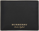 Burberry Black Leather Hipfold Wallet