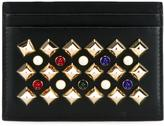 Christian Louboutin crystal embellished card holder