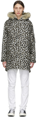 Wacko Maria Black and Brown Leopard Mods Jacket