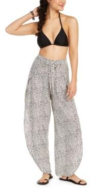 J Valdi Printed Tulip Swim Cover-Up Pants Women's Swimsuit
