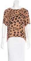 Jenni Kayne Silk Leopard Print Top