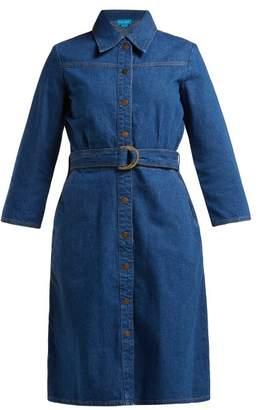 MiH Jeans Aria Denim Shirtdress - Womens - Blue