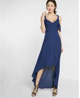 Express cold shoulder maxi dress