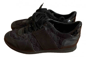 Gucci Black Velvet Flats