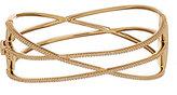 Nadri Viento Pave Gold Plated Bangle Bracelet