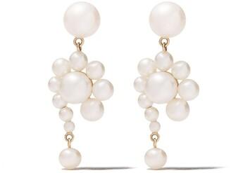Sophie Bille Brahe 14kt yellow gold Escargot Perle earrings