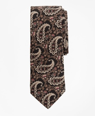 Brooks Brothers Paisley Chevron Print Tie
