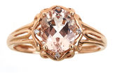 JCPenney FINE JEWELRY LIMITED QUANTITIES Genuine Morganite and Diamond-Accent Ring