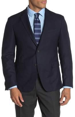 BOSS Dark Blue Birdseye Two Button Notch Lapel Wool Slim Fit Suit Separates Blazer