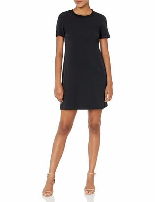 Lark & Ro Women's Florence Short Sleeve Sweater Trim Dress