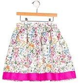 Oscar de la Renta Girls' Floral Print Flare Skirt w/ Tags