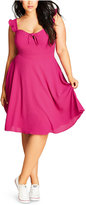 City Chic Trendy Plus Size Flutter A-Line Dress