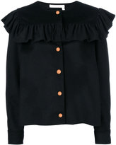 See by Chloe frilled jacket - women - Cotton/Polyamide/Wool - 38