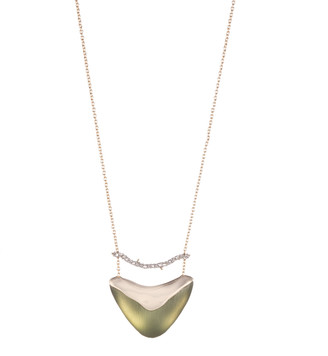 Alexis Bittar Crystal Encrusted Bar And Shield Pendant Necklace