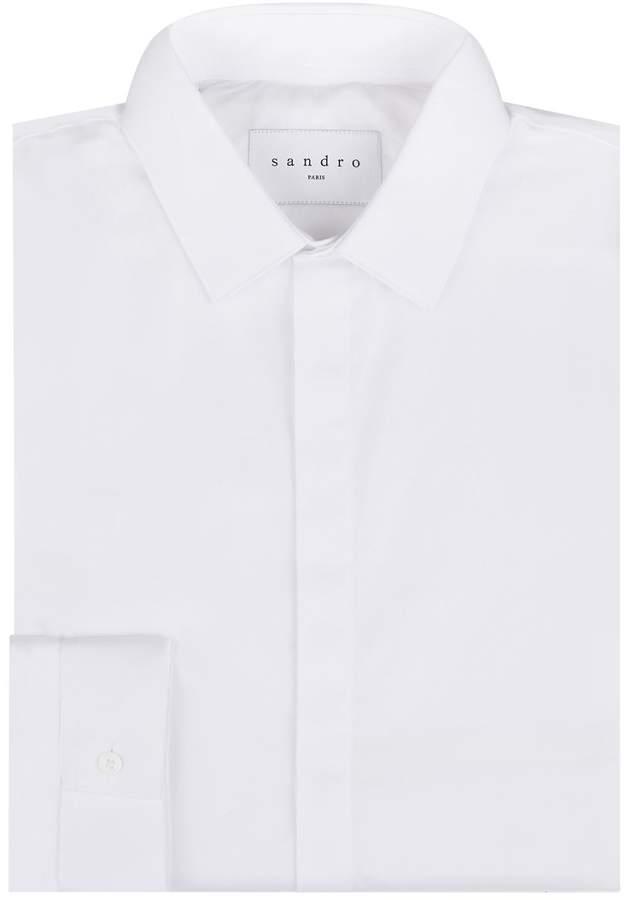Sandro Poplin Cotton Shirt