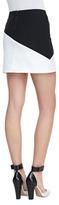 Alice + Olivia Derrico Two-Tone Miniskirt