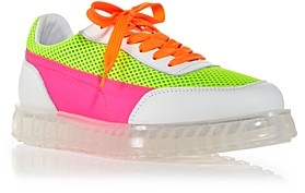 Joshua Sanders Women's Zenith Air Neon Color Block Sneakers