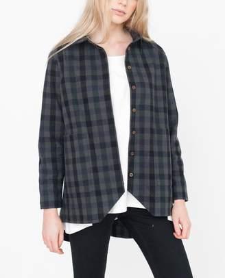 Beaumont Organic Khaki and Black Fran Checked Cotton Jacket - Khaki And Black / Large - Black