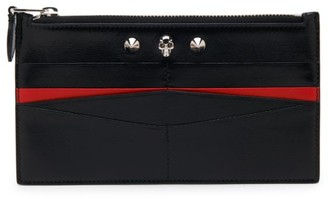 Alexander McQueen Skull Leather Zippered Pouch