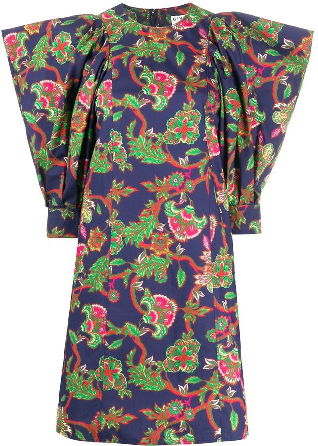 Givenchy Floral Print Shift Dress