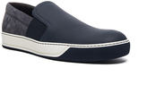 Lanvin Opaco Grained Calfskin Slipper Sneakers