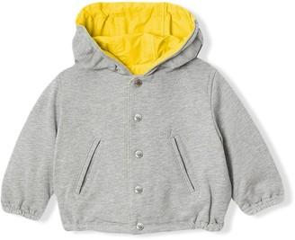 BURBERRY KIDS Logo Print Reversible Hooded Jacket