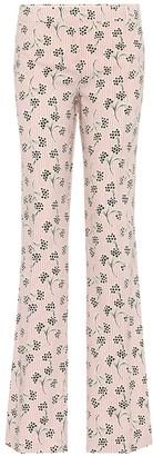 Prada Printed crepe trousers