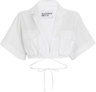 Matthew Bruch Cropped Safari Poplin Shirt