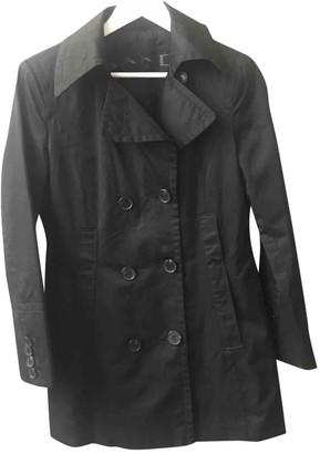 Sand Black Cotton Coat for Women