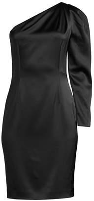 Elie Tahari Nikita One-Shoulder Satin Dress